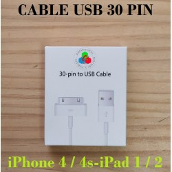 CABLE USB 30pin 1m-iPhone...