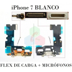 FLEX DE CARGA-iPhone 7-BLANCO